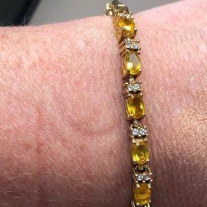 Canary Diamond Gold Tennis Bracelet